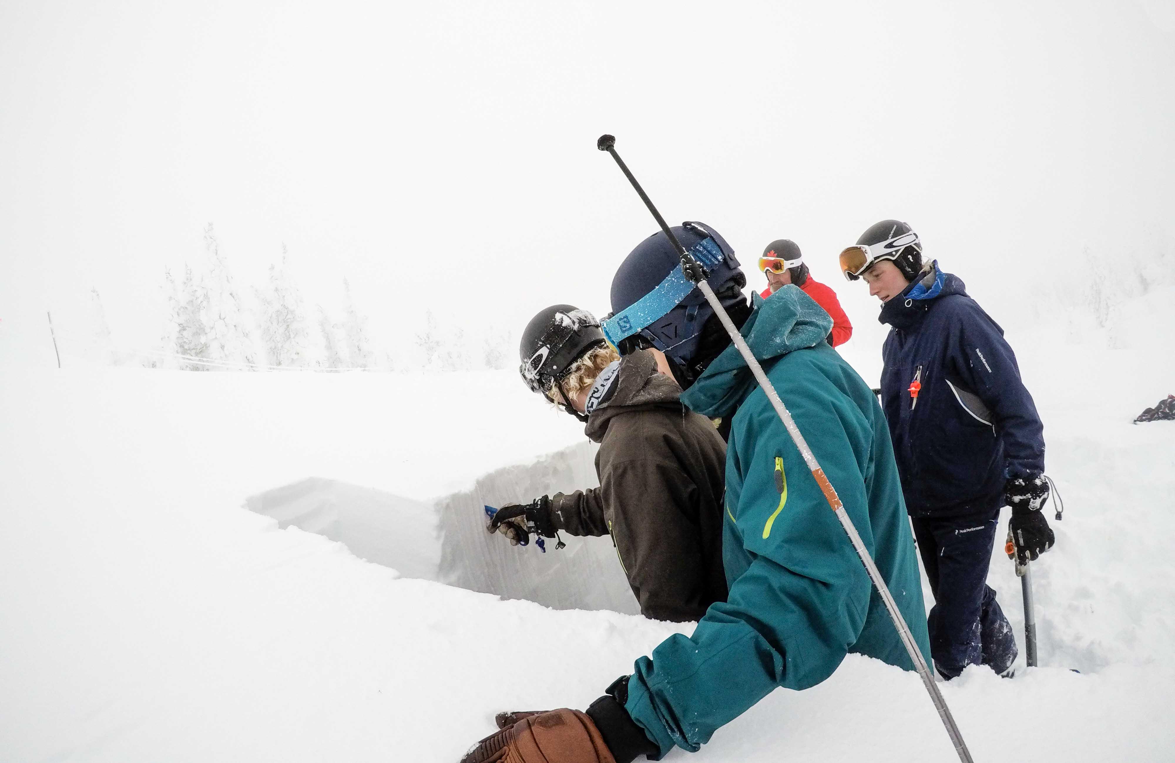 Der graves sneprofiler i offpisten