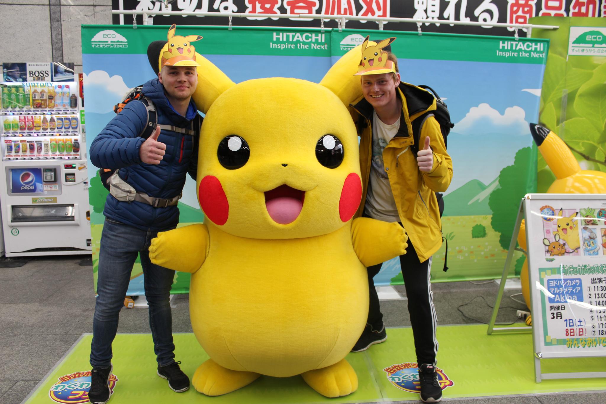 Snowminds instructors japan pikachu