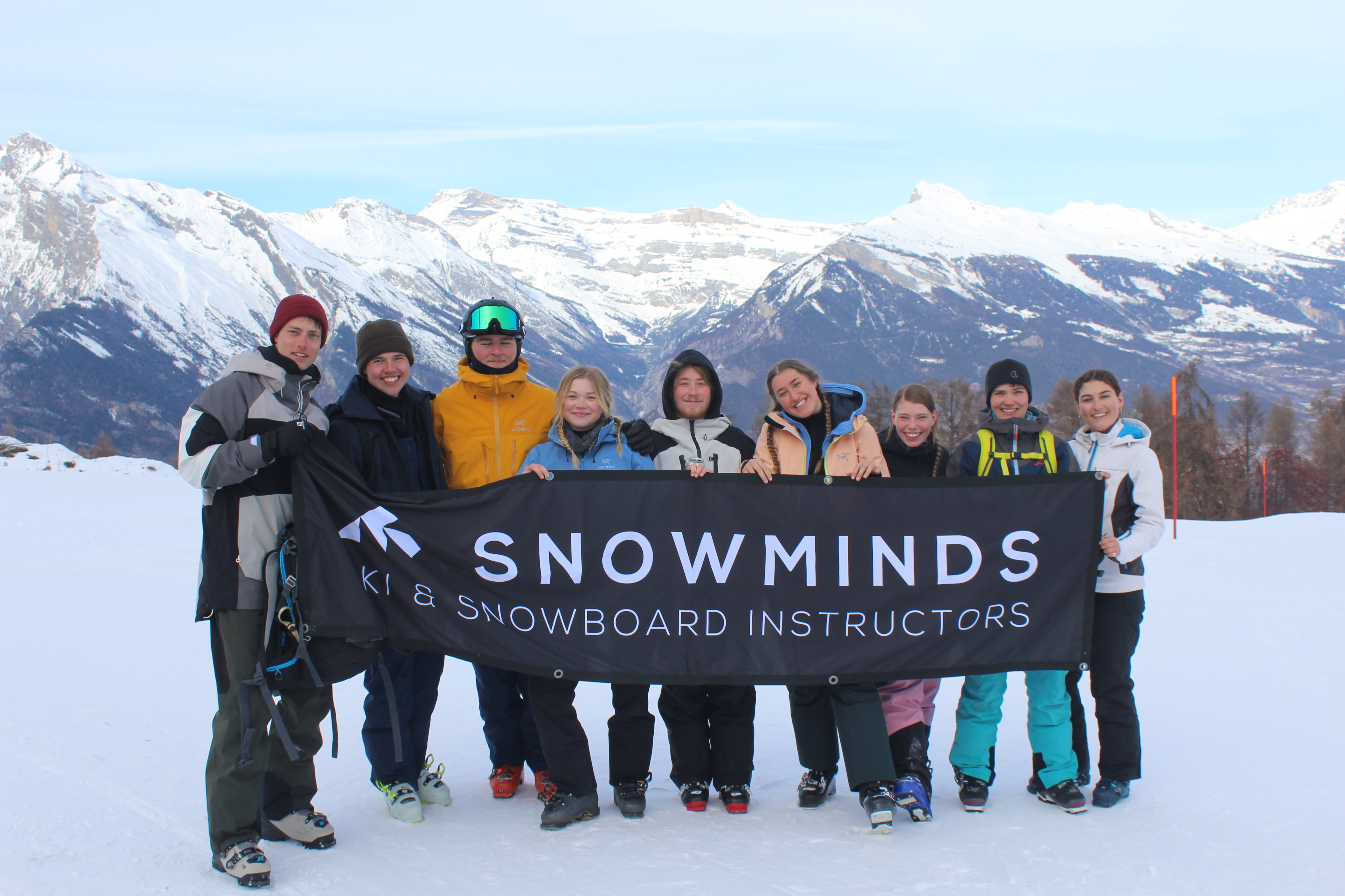 Snowminds instructors in Saas Fee